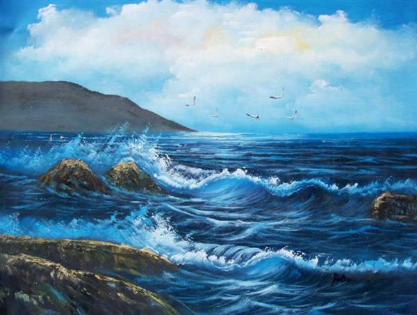 Image result for tranh biển